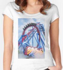 Banshee Roller Coaster  Women's Fitted Scoop T-Shirt