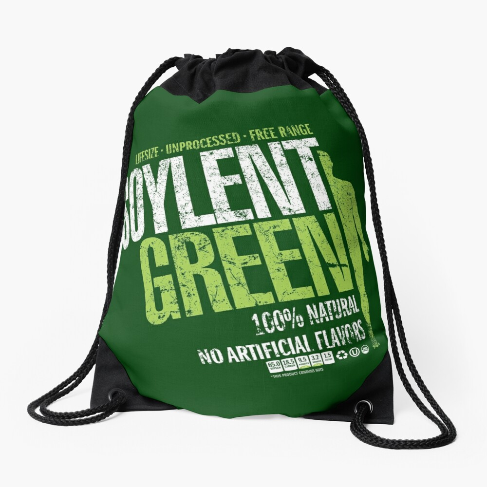 Soylant Green Drawstring Bag