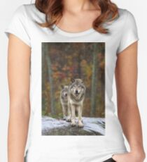 Double Trouble - Timber Wolves Women's Fitted Scoop T-Shirt
