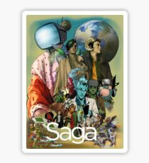 Saga comic Characters geek Sticker