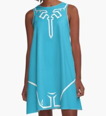 Link's Breath of the Wild Champion Shirt Blue Tunic A-Line Dress