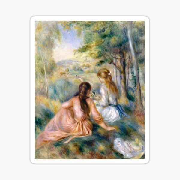 Auguste Renoir In the Meadow Sticker