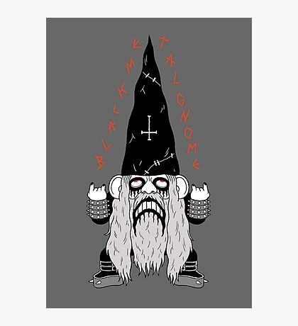 Black Metal Gnomo Photographic Print