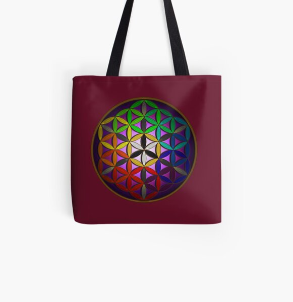 flower of life (spectral) All Over Print Tote Bag