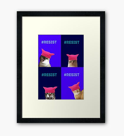 Resist (all 4) Framed Print