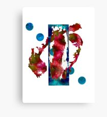 Watercolor Abstract 1-Rectangle Format Canvas Print