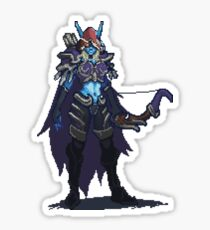 Pixel Sylvanas Windrunner Sticker