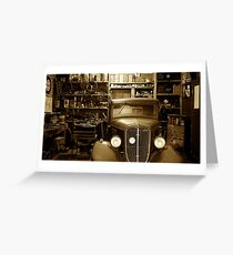 Classic Garage. Greeting Card