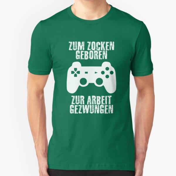 ZOCKER Design-zum zocken et zur Arbeit gezwungen Standard Unisexe T-Shirt