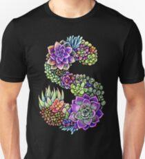 Succulents S with black stroke Unisex T-Shirt