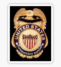 Bureaucracy Survivor Sticker