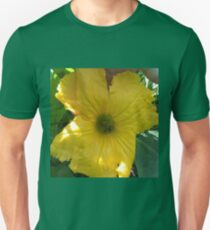Squash Blossom With Bee Pollinating Unisex T-Shirt