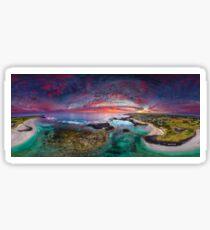 Port Fairy Drone Panoramic Sunset Sticker