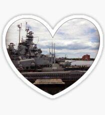 Battleship Heart Sticker
