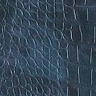 Alligator leather like blue by WAMTEES