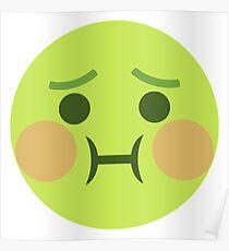 Sick Barf Emoji Poster