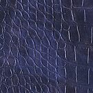 Alligator leather like navy blue by WAMTEES