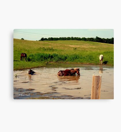 """'Bud, hey, Bud... check out Sam, behind us:  I think he's lost it. Watcha think?'""... prints and products  Canvas Print"
