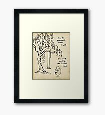 Winnie the Pooh - How do you Spell Love? Framed Print