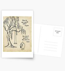 Winnie the Pooh - How do you Spell Love? Postcards