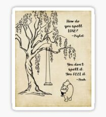 Winnie the Pooh - How do you Spell Love? Sticker
