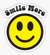 Smile More Face Sticker