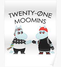 Twenty One Moomins Poster