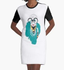 Iris Apfel Graphic T-Shirt Dress