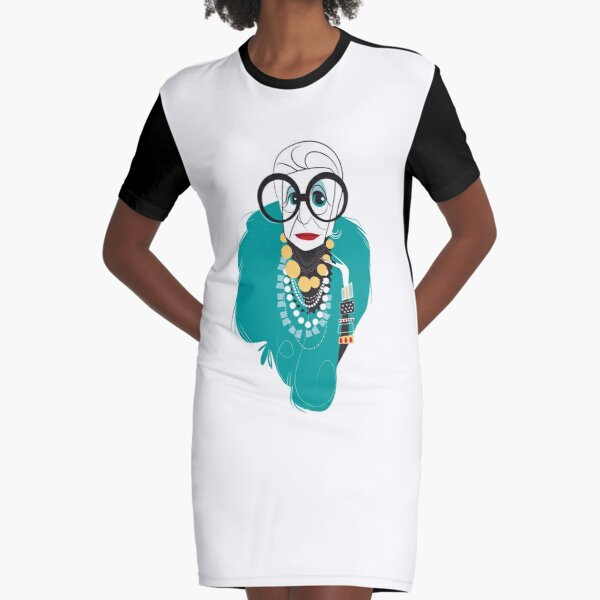 Iris Apfel Graphic T-Shirt Dress
