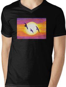 Seagulls Flying Over Flagler Beach Mens V-Neck T-Shirt