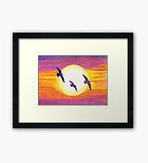 Seagulls Flying Over Flagler Beach Framed Print