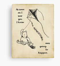 Winnie the Pooh - Adventure Canvas Print