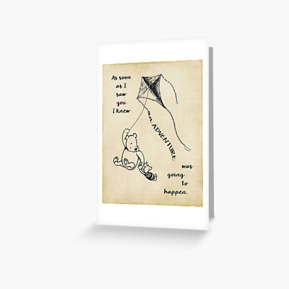 Winnie the Pooh - Abenteuer Grußkarte