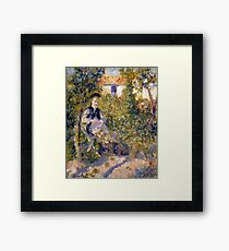 Auguste Renoir Nini in the Garden Framed Print