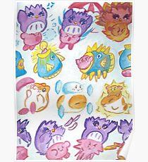 Kirby, Coo, Rick and Kine Poster