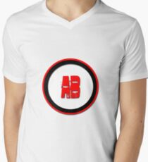AB- = blood type Men's V-Neck T-Shirt