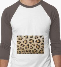 Leopard Pattern Background - Rosette of Beautiful Wonder Men's Baseball ¾ T-Shirt