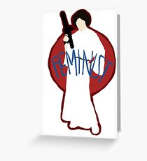 Princess Leia - Space Feminist  Greeting Card