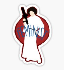 Princess Leia - Space Feminist  Sticker