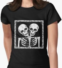 SIAMESE SKULLS VERSION TWO - Art By Kev G Women's Fitted T-Shirt