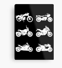 History of Ducati Motorcycles - White Metal Print