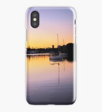 Yachts in the sunset #2 iPhone Case/Skin