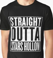 Straight Outta Stars Hollow Graphic T-Shirt