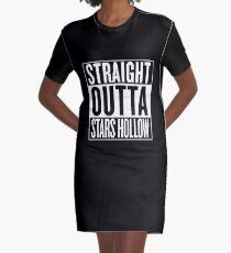 Straight Outta Stars Hollow Graphic T-Shirt Dress