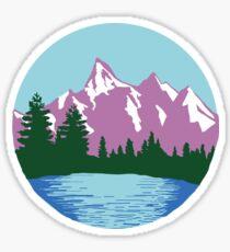 Purple Mountain Circle Sticker