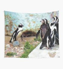 Penguin gathering Wall Tapestry