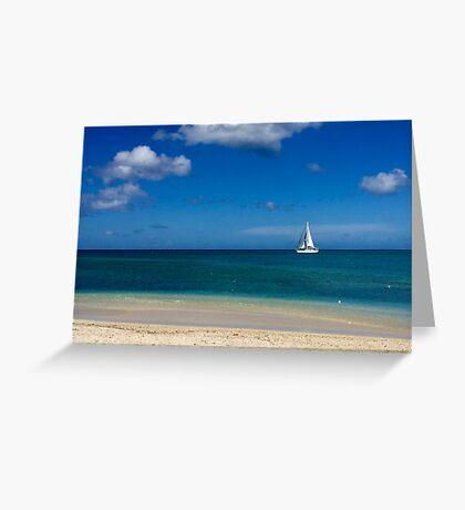 Sailboat in Antigua Greeting Card