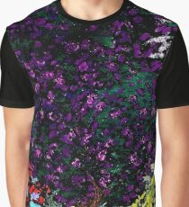 Violet Bougainvillea Against the Garden Wall Graphic T-Shirt