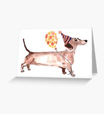Dachshund Party Dog Greeting Card