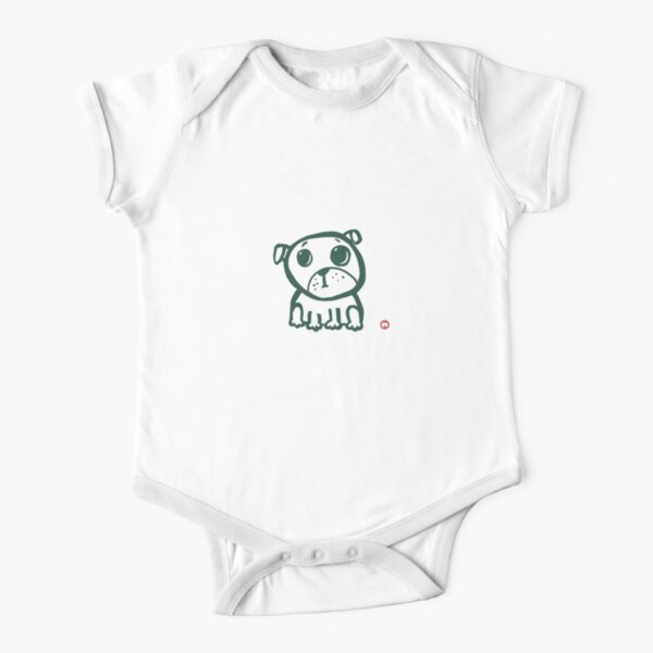 Cute puppy 2 Short Sleeve Baby One-Piece